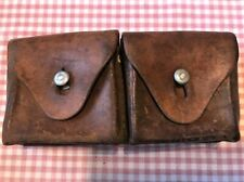Swiss Army Military Belt 2 Compartment Leather Ammo Pouch 1941