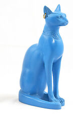 Blue Bastet Cat Statue - Made in Egypt