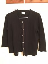 Kate Spade Black Cardigan With Jeweled Buttons