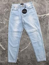Ebonie n Ivory Shima light blue denim  ankle grazer Jeans, M