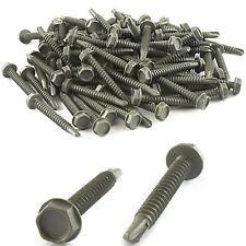 90 PC ASSORTED SELF TAPPING DRILLING METAL SCREWS SET Washer Hex Head #10 - #16