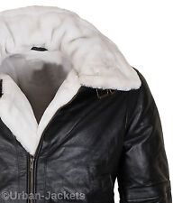 Mens Aviator Jet Fighter Pilot B3 Sheepskin Leather Fur Bomber Flying Jacket