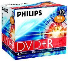 Philips DVD+R 10 pack Jewel case - 120min - 4.7GB -1-16x speed
