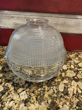 Antique HOLOPHANE Glass Ball Lamp Light Shade Prismatic