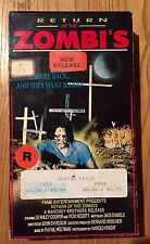 VHS Return Of The Zombi's (Zombies) VHS STANLEY COOPER VICKIE NESBITT SUPER RARE
