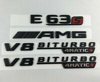 E63S AMG V8 BITURBO 4MATIC+ Logo noir mat lettres emblème broderie insignes auto