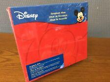 New Walt Disney Mickey Mouse 8.5 x 8.5 Red Scrapbook Album Factory Sealed