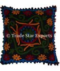 """Indian Uzbek Suzani Cushion Cover 16"""" Embroidered Square Home Decor Pillow Cases"""