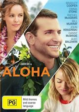 ALOHA (DVD 2015) VERY GOOD CONDITION -BRADLEY COOPER, EMMA STONE, RACHEL McADAMS