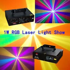 1000mW RGB Full Color DMX Laser Light Disco DJ  Stage Party Lighting