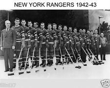 1942-1943 NEW YORK RANGERS 8X10 TEAM PHOTO