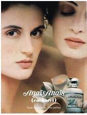 PUBLICITE ADVERTISING  2001   ANAIS ANAIS   parfum eau de toilette  CACHAREL