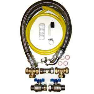 Water Softener Installation Kit, 22mm High Quality 800mm Stainless Steel hoses