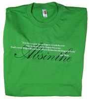 Oscar Wilde Absinthe Quote Green Mens T-Shirt NEW sz S