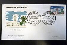 MADAGASCAR  433   PREMIER JOUR FDC    EDIFICE RELIGIEUX MOSQUEE    10F      1967