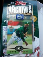 2020 Topps Archives Signature Series Dave Stewart 1/4