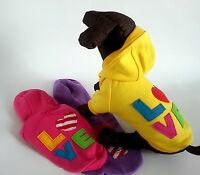 sehr warme Fleece Pullover Hoodie Hundejacke mit Kapuze Hund Mantel