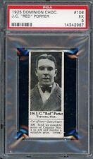 1925 V31 Dominion Chocolate #106   Red Porter   Hockey   PSA 5 !