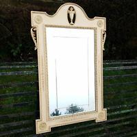 Georgian Adams Style Cream Painted Parcel Gilt Wall Mirror