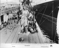 Statue of Liberty replica being loaded on ship in THE BRAIN 1969 - movie photo