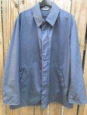 Men's Hermes Blue Nylon Rain Jacket Windbreaker Sz 42
