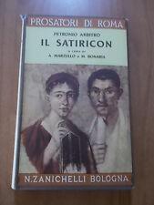 Petronio Arbitro IL SATIRICON Zanichelli 1962