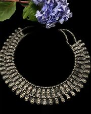 Indian Ethnic Oxidized Silver Plated Choker Necklace set Afghani Jewelry