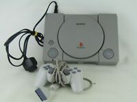 Sony Playstation One Grey Silver Mod SCPH-5502 With Controller In Working Cond