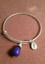 Expandable Bangle Charm Bracelet, by Bella Ryan. Blue bead