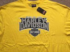 Harley Davidson Ride to Live Yellow Shirt Nwt Men's XL