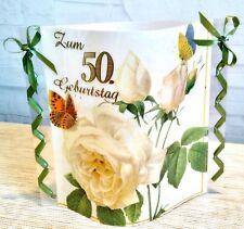 Tischdeko-Windlicht aus Servietten-50.Geburtstag-Partyartikel-Happy Birthday