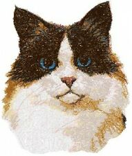 Large Embroidered Zippered Tote - Ragdoll Cat Aed16041 Sizes S - Xxl