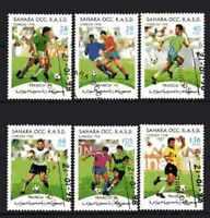 Fútbol Sahara (30) serie completo 6 sellos matasellados