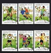 Football Sahara (30) série complète 6 timbres oblitérés