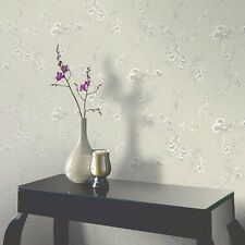Arthouse chinoise Wallpaper 422803 Gris Topo Floral Pájaros neutral