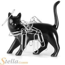 Pussy Magnet Novelty Black Cat Shaped Magnet Office Desk Stationary Paper Clip
