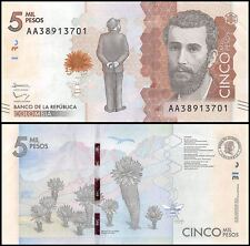 Colombia 5,000 (5000) Pesos, 2015, P-NEW, UNC