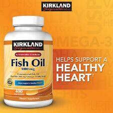 Kirkland Signature Omega-3 Fish Oil 1000 mg 400 ct softgels (vitamin supplement)