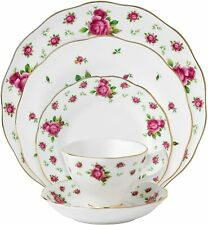 Royal Albert New Country Roses White Vintage Formal Place Setting, 5-Piece NEW