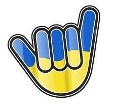 NO PROBLEM mano con l'Ucraina Paese Bandiera Vinile Auto Camion Adesivo Decalcomania