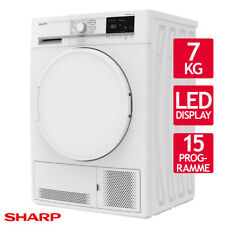 Wäschetrockner Trockner Kondenstrockner Sharp KD-GCB7S7PW9-DE 7kg EEK:B LED