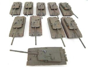 Set Of 10 Chinese Style Type 99 Modern Army Tanks Hard Plastic Miniature Scale