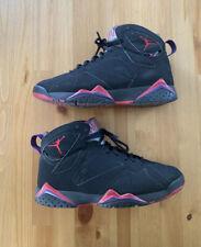 "2012 Retro Air Jordan 7 ""Raptor"" Size 8.5 BLACK TRUE RED CLUB PURPLE 304775 018"