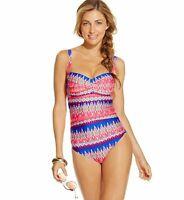 La Blanca Sandbar Twist Front Ruched Maillot One Piece Size 6 Swimsuit NWT $119