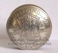 British Silver Half Crown Screw Lid Coin Snuff Box / Pill Box / Keepsake