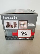Atlantic 9663-5495 Parade Series Stackable 96-CD Storage Cases - Clear/White
