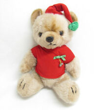 VTG MON PETIT CHOU LTD CHRISTMAS TEDDY BEAR JOINTED PLUSH