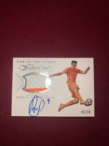ROBIN VAN PERSIE 2015-16 PANINI FLAWLESS AUTOGRAPH PATCH RELIC #/20 NETHERLANDS