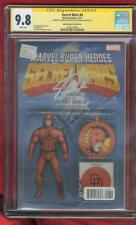 Daredevil 6 CGC 2XSS 9.8 Stan Lee Cox Sign Secret Wars 15 Variant Spidey 3 Movie