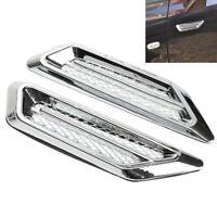 1 Pair Chrome Car SUV Air Flow Side Vent Fender Decoration Sticker For BMW/Benz